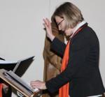 Adentskonzert 2014 Chorleiterin