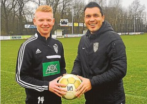 Tom Wagner und sein Trainer Maik Stolzenberger
